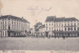 AALST-PLACE DE LA GARE-EDIT.-J.CORNELIS-PRACHTIGE ANIMATIE-VERSTUURD-ZIE 2 SCANS-TOP ! ! ! - Aalst