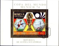 SOCCER-FIFA WORLD CUP-MUNICH-GOLD PLATED MS-3 Nos-CTO-OVERPRINT-MNH-B4-113 - Fußball-Weltmeisterschaft