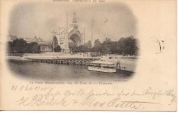 CPA - EXPOSITION UNIVERSELLE DE 1900 - LA PORTE MONUMENTALE VUS DU PONT DE LA CONCORDE - PRECURSEUR - Francia