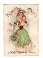 Chromo Pour Blooker Cacao, Amsterdam, Holland, Hollande, Femme - Trade Cards