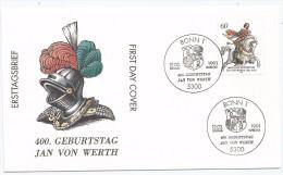 Allemagne RFA 1991 1336 FDC Jan Von Werth Mercenaire Chevaux Cheval  Paarden  Horses  Pferde  Caballos  Cavalli - Horses