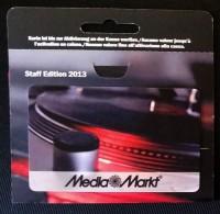 Carte Cadeau Staff Edition 2013 Media Markt (Suisse) - Gift Cards