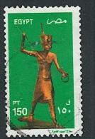 EGYPT 2002 Definitives – Gilded Wood Statue Of Tutankhamun Postally Used Stamp MICHEL # 2090A - Egypt