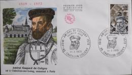 ENVELOPPE 1er JOUR 1973 - Amiral De COLIGNY - Chatillon-Coligny Le 17.02.1973 - En Parfait état - - FDC