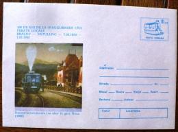 ROUMANIE TRAINS,  Entier Postal Emis En 1992 (100° Anniversaire De La Ligne  Chemin De Fer BRASOV-SATULING) - Treni