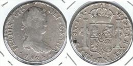 BOLIVIA FERNANDO VII POTOSI 1825 8 REALES PLATA SILVER - Bolivia