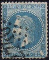 FRANCE - Variété - Grande Tache Angle Inférieur Droit + Nombreux Points Devant Le Visage - 1863-1870 Napoléon III Lauré