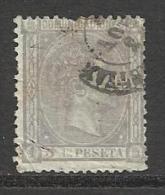ESPAGNE , SPAIN , 5 C , Alphonse XII , 1875 , N° Y&T 154 - Oblitérés