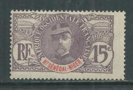 Haut-Sénégal N° 6 X  Type  Faidherbe  : 15 C. Violet Trace De Charnière Sinon TB