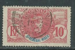 Haut-Sénégal N° 5 O  Type  Faidherbe  : 10 C. Carmin  Oblitération Moyenne Sinon TB