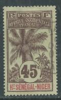 Haut-Sénégal N° 12 O  Type  Palmiers  : 45 C. Brun Sur Vert-gris Assez Faible Oblitération Sinon TB