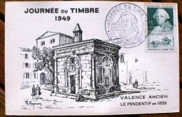 FRANCE Carte Premier Jour  FDC- Journee Du Timbre 1949 Valence Sur Rhone - ....-1949
