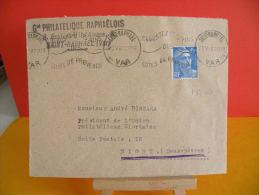 Flamme - 83 Var, St Raphael, Cotes De Provence - 20.5.1947 - Storia Postale