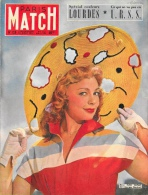 Paris Match 1951 - N°126 - Dany Robin - Spécial Couleurs Lourdes - Ce Qui Ne Va Pas En URSS - General Issues