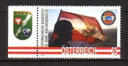 2010 autriche neuf ** n� 2729 militaire : casque bleu : drapeau