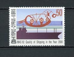 1992 chypre neuf ** n� 801 transport : bateau antique et moderne