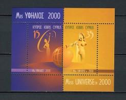 2000 chypre neuf ** bloc n� 21 �lection de miss univers