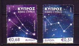 2009 chypre neuf ** n� 1162/63 europa : astronomie