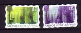 2011 chypre neuf ** n� 1219/20 europa : les forets : arbre : mouflon : loup : chouette