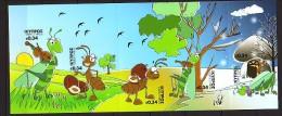2012 chypre neuf ** carnet n� 1248 fable : la cigale et la fourmi : violon : soleil