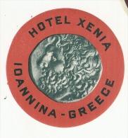 Etiquette D'hotel  11cm Hotel  Hotel Xiena Ioannina GRECE - Hotel Labels