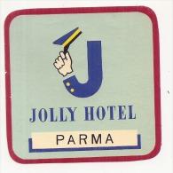 Etiquette D'hotel  7CM JOLLY HOTEL COSENZA Pli Marqué Italy - Hotel Labels