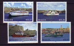 2011 malte neuf ** n� 1632/35 transport : bateau de peche : ferry : garde cote