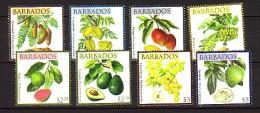 2011 barbade neuf ** n� 1221/36 fruit : coco : banane : avocat : goyave : cajou : grenade : mangue