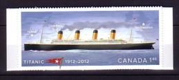 2012 canada neuf ** n� 2693 transport : bateau : paquebot le titanic : timbre autoadh�sif