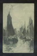 Ilustrador No Descifrado. Ed. E.R. Madrid. Circulada 1921. - Segelboote