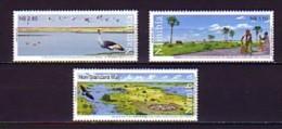 2003 namibie neuf ** n� 997/99 faune : vache : oiseau : grue : pecheur : arbre