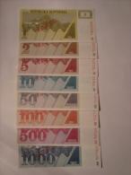 SLOVENIE - Série De 8 Billets Specimen - Vzorek - 1-2-5-10-50-100-500-1000 Tolarjev - UNC - Neuf - - Slovénie