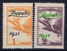 Hungary  Mi Nr 478 - 479 MH/*   1931 Airmail - Poste Aérienne