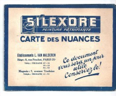 CATALOGUE DEPLIANT SILEXORE PEINTURE PÉTRIFIANTE, CARTE DES NUANCES - Pubblicitari