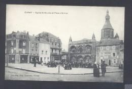 VIENNE 86 CIVRAY Eglise St Nicolas Et Place D´armes - Civray