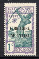 ININI - N° 1* -  INDIGENE TIRANT A L´ARC - Inini (1932-1947)