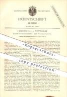 Original Patent - J. Baeuerle Sohn In Furtwangen , 1884 , Kuckucks- Und Trompeteruhr , Uhrmacher , Kuckucksuhr !!! - Antike Uhren