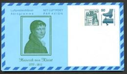 HEINRICH VON KLEIST BERLIN PF5 B1/001 Privat-Faltbrief ** 1978  NGK 8,00 € - Writers