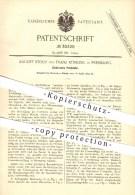 Original Patent - August Stouy & Franz Küssling In Pressburg / Bratislava , 1884 , Elektrische Pendeluhr , Uhrmacher !!! - Antike Uhren
