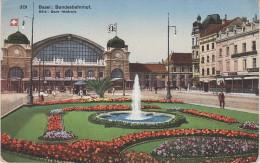 AK Basel Bale Bundesbahnhof Gare Federale Bahnhof Hotel Kronenhalle Railway Station Schweiz Suisse - Gares - Sans Trains
