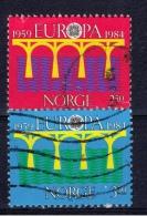 N+ Norwegen 1984 Mi 904-05 EUROPA - Used Stamps