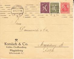DEUTSCHLAND  1928. GANZSACHE BRIEF  GERMANIA  40 Pf.+ 50+10 Pf. GEBRAUCHT MAGDEBURG . CN 3237 - Enteros Postales