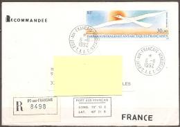 T.A.A.F. - Enveloppe Datée Du 06/11/92,timbre Pa114  (bon état,ouverture Faite En Bas) - Altri