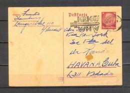 1940, ALEMANIA, WWII, TARJETA ENTERO  POSTAL CIRCULADA DESDE HAMBURGO A LA HABANA, KRIEG - WHW - Cartas