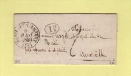 Montfort L'Amaury - 72 - Seine Et Oise - 6 Avril 1840 - Marcophilie (Lettres)