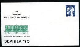 BERLIN PU50 C1/001 Privat-Umschlag BAHNPOSTWAGEN ** 1975  NGK 6,00 € - [5] Berlin