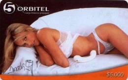 Lote TT60, Colombia, Tarjetas Telefonicas, Phone Cards, Orbitel, Amada Rosa, 5.000, TB, Woman, Very Rare Card - Colombia