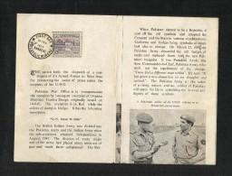 Pakistan 1963 U N Force With Stamp Used  Information LEAFLET BROCHURE - Pakistan