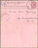 Österreich, Rohrpost-Kartenbrief Mi 5 II (22 Punkte) Wien 1/1 15 - 1850-1918 Empire