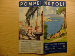 MAPA PARA VISITAR -  NAPOLI - POMPEI - VESUVIO - SORRETO - CAPRI - ETC. - Folletos Turísticos
